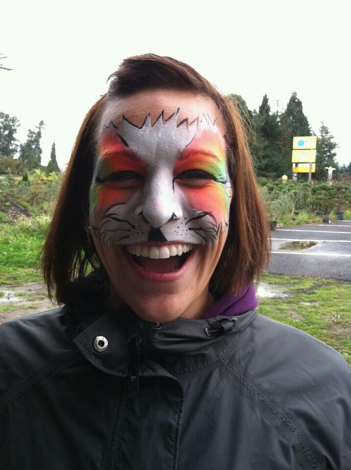 Jill with face paint