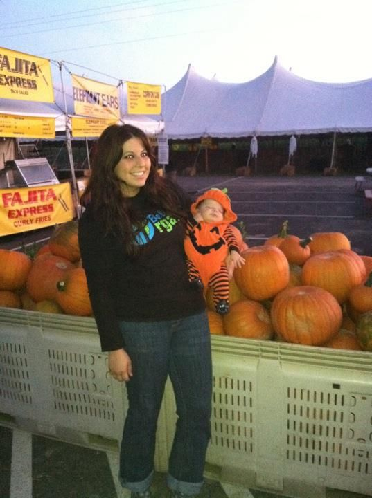 Sofia and baby pumpkin